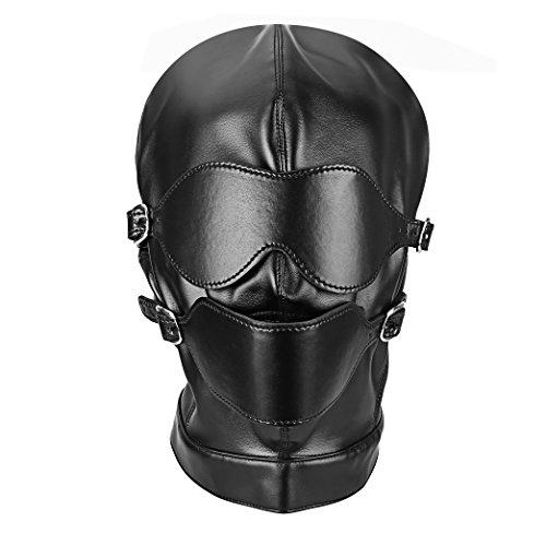 Kopfmaske mit Knebel und Abdeckungen für Augen
