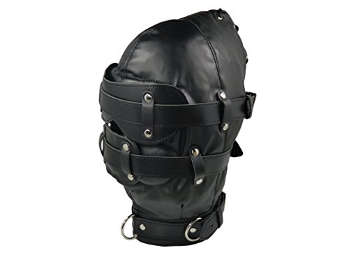 Isolationsmaske mit Dildo-Knebel, schwarz