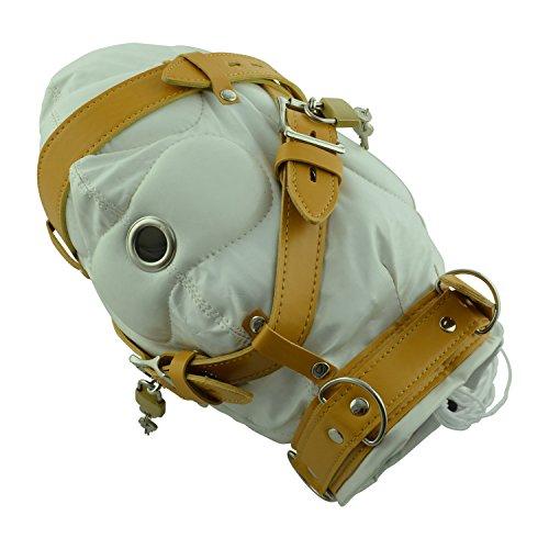 Deprivations-Maske weiß, schalldicht gedämpft, weiches Kunstleder