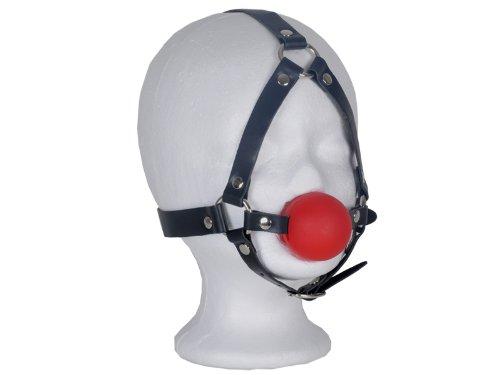 Harness Mund-Knebel mit Ball rot