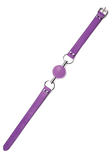 Ballknebel an Lederband – violett