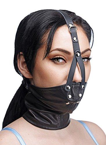 BDSM-Maske mit Mundknebel, Leder
